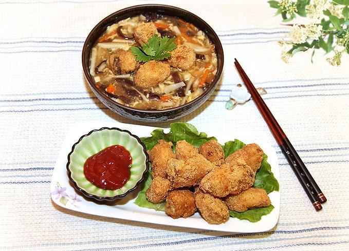【人夫料理~ㄚ源仔之香酥土魠魚與改良羹湯】