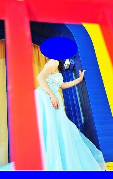 售.水蓝色礼服