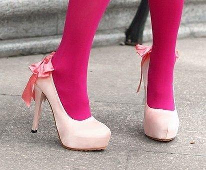出售我的超高调拍照鞋,婚鞋-粉红色大蝴蝶结可爱公主鞋,新娘鞋