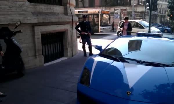 義大利 lamborghini警車