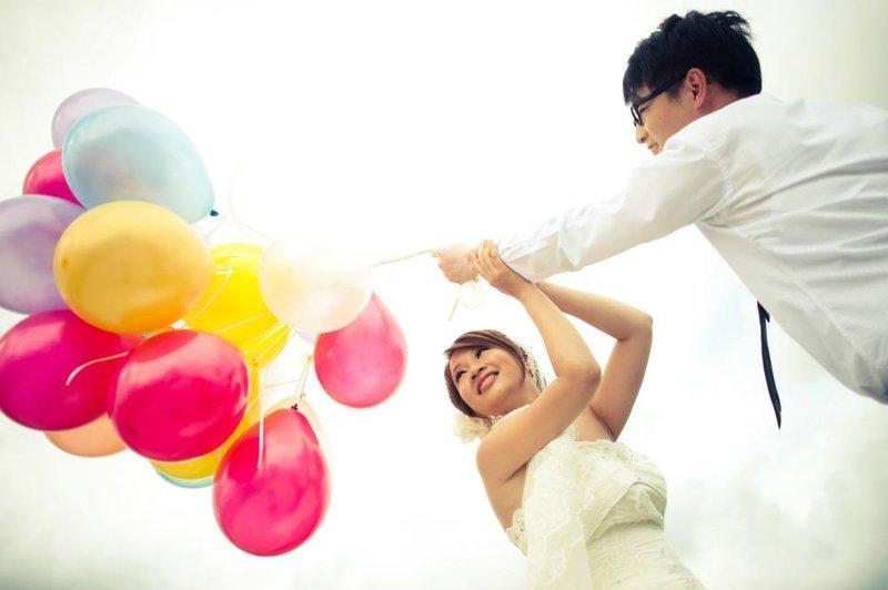 大束气球手绘背景素材