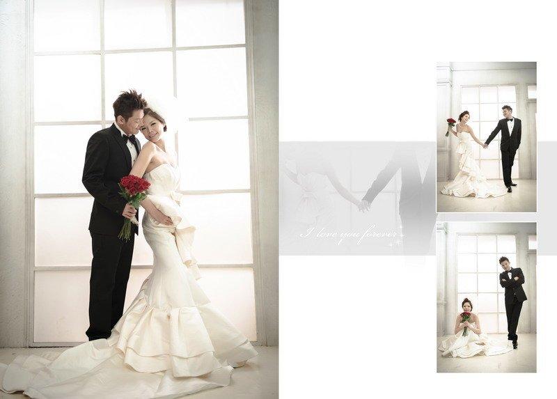 """喜喜 分享尚未修片先排版的""""韩""""婚纱照"""