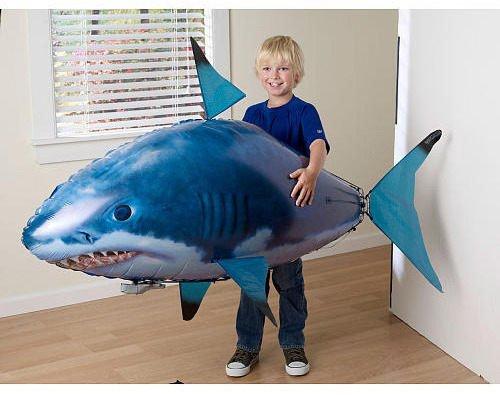 清 全新 遥控飞天鱼 飞天鲨鱼