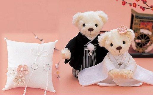分享~超级可爱日本婚礼小熊娃娃