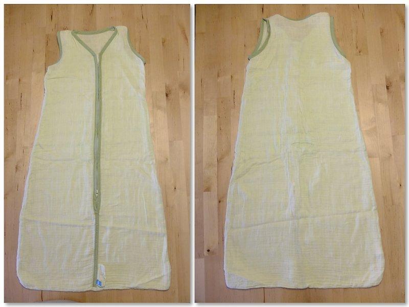 袋-粉绿   纱布材质超舒适 极适合冷气房睡觉穿著 约八成新   领口纱布图片