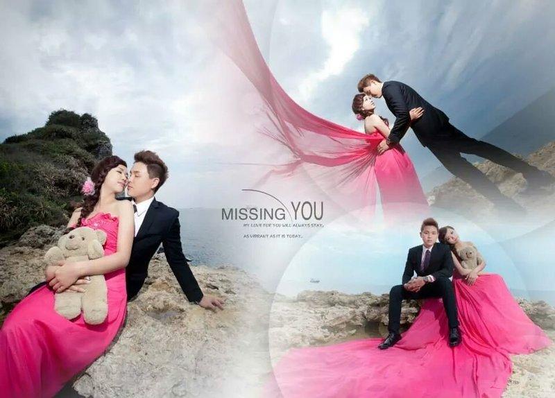 分享我们的婚纱照排版哦!图片