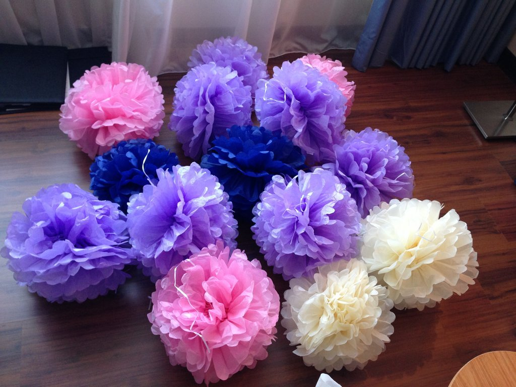 【售】婚礼布置小物 ( 纸花球