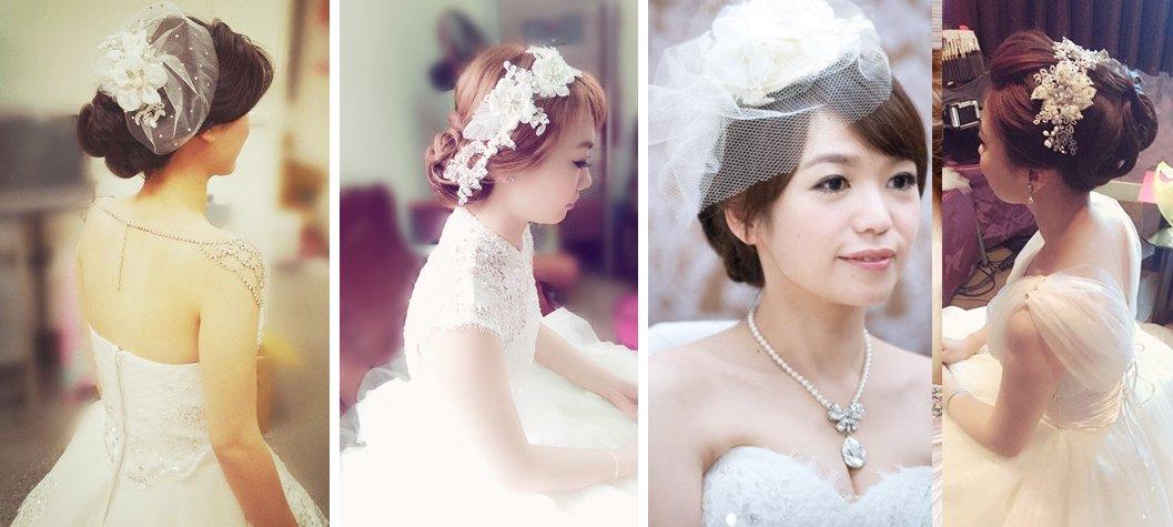 新娘英式的優雅-紗帽.蕾絲