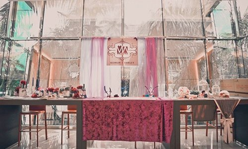 紫色婚禮佈置