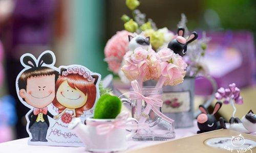 粉紅色婚禮佈置