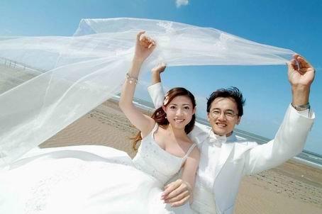 分享圆脸妹在非常台北的婚纱照.